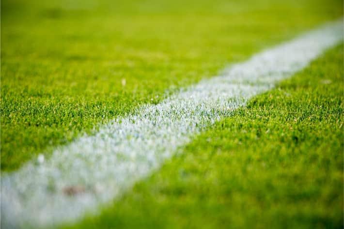 Single strip of athletic field