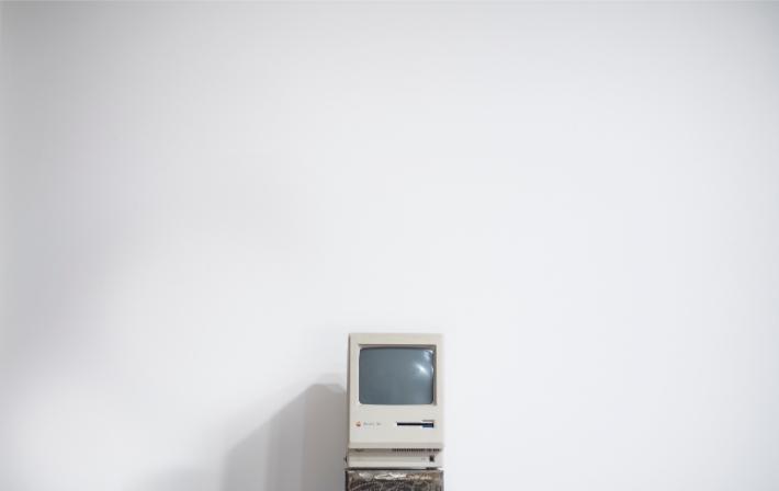 Gammal dator, precis som de föråldrade datorsystem som utsattes i WannaCry-utpressningsvirusattacken