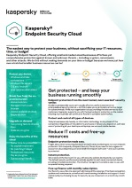 Kaspersky Endpoint Security Cloud – faktablad