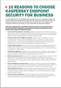 10 skäl att välja Kaspersky Endpoint Security For Business