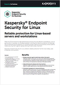 Kaspersky Endpoint Security for Linux – faktablad